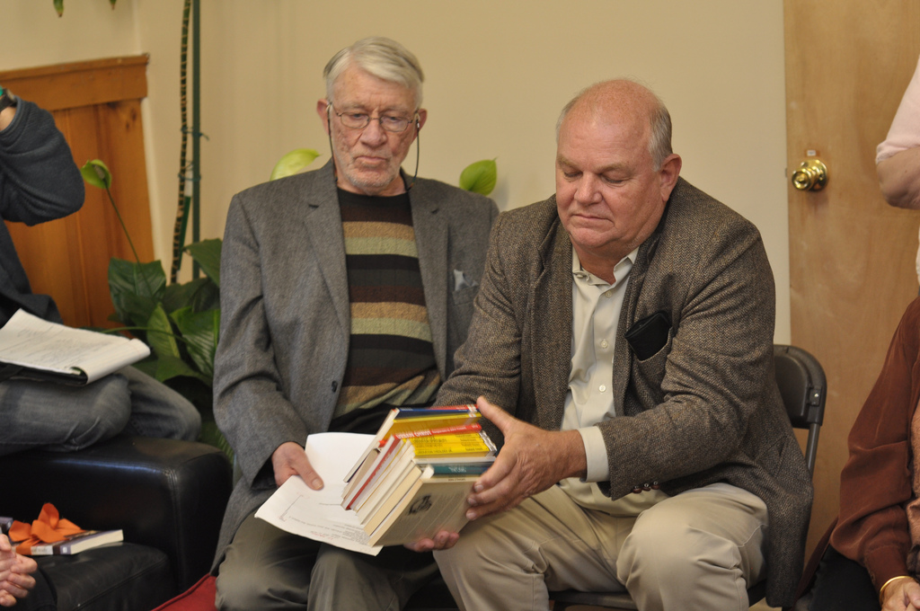 Norman Gottwald with a representative of the Urban Theological Unit