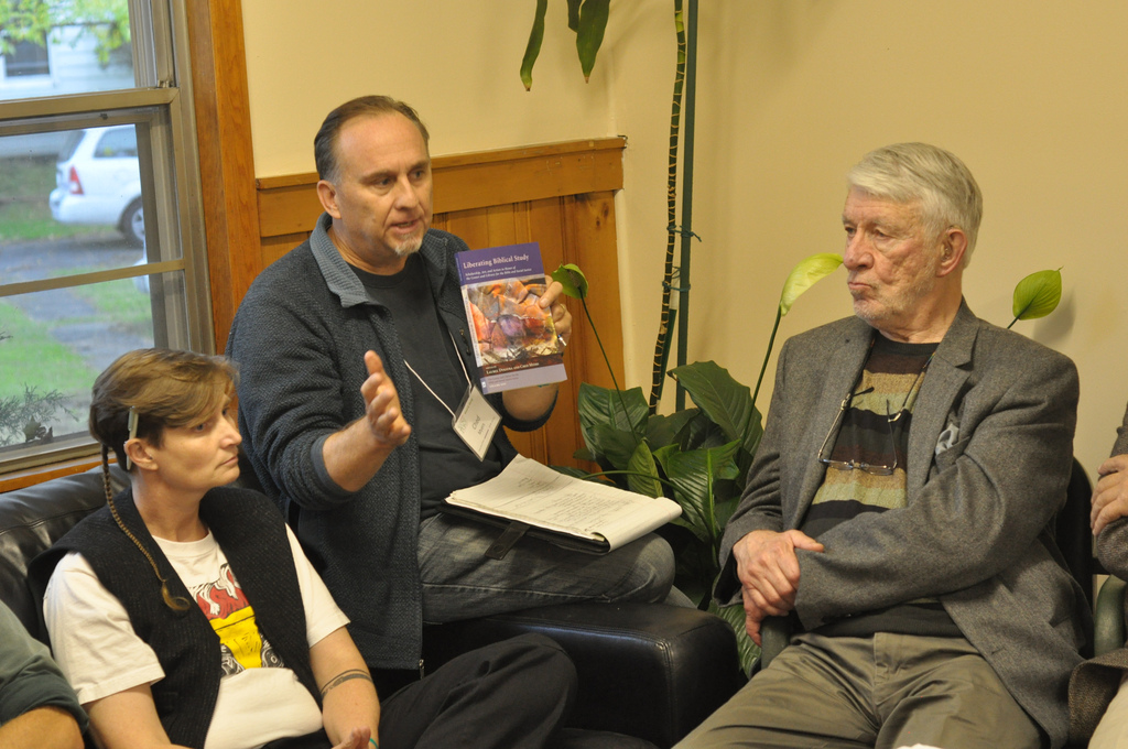 "Laurel Dykstra, Ched Myers and Norman Gottwald discuss ""Liberating Biblical Study"""