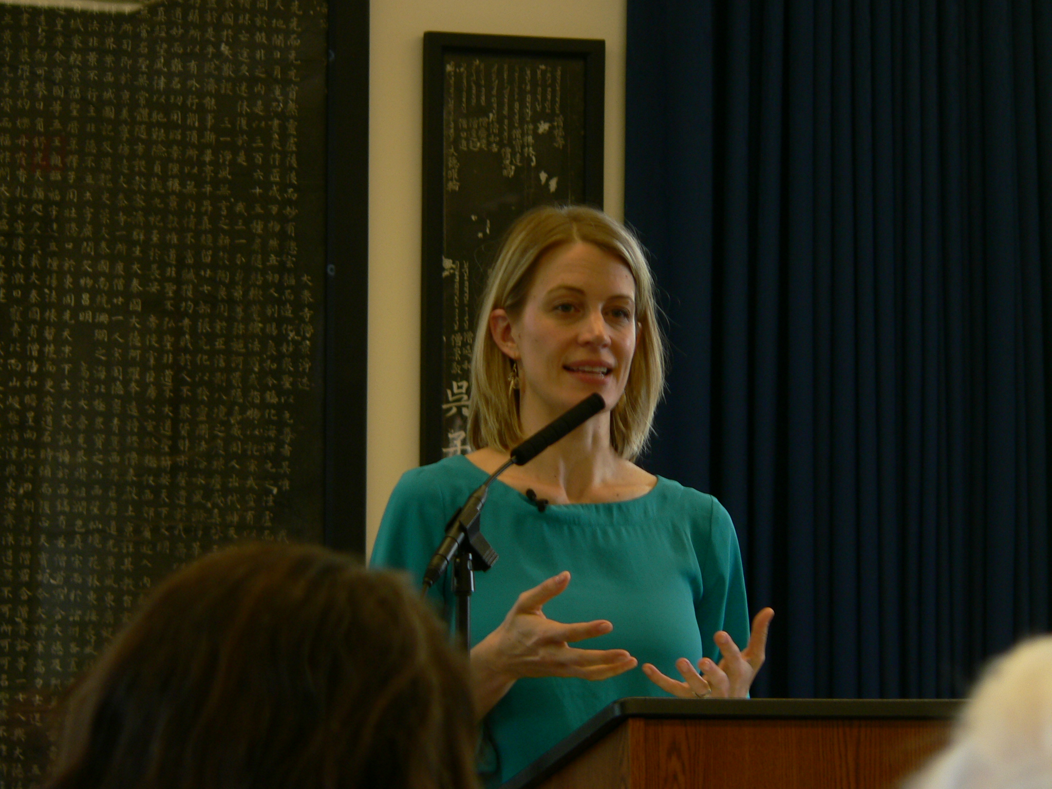 Christiana Peppard in lecture at Maryknoll in Ossining, New York, May 2014